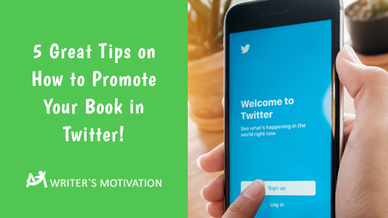 how to promote book in twitter