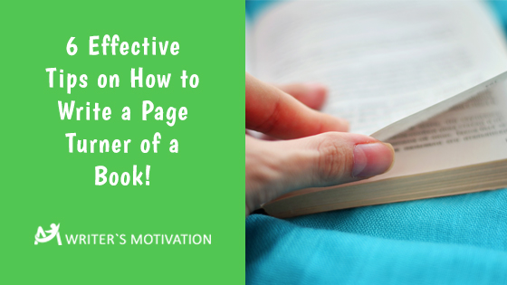 how to write a page turner of a book