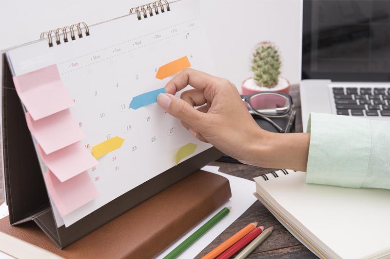 Follow a book marketing schedule